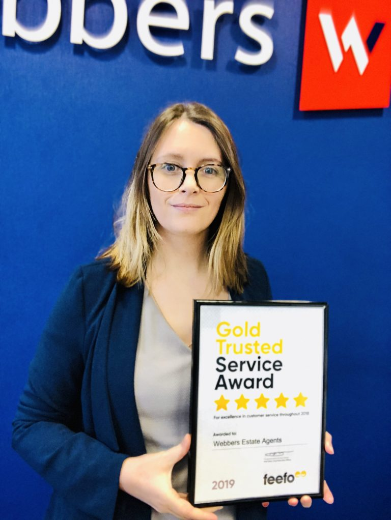Webbers Estate Agents receives Feefo Gold Trusted Service Award 2019 – three years running!