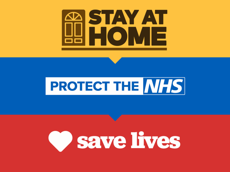 Stay at home protect the NHS saves lives